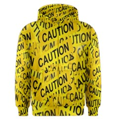 Caution Road Sign Cross Yellow Men s Zipper Hoodie