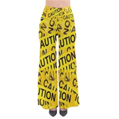 Caution Road Sign Cross Yellow Pants by Alisyart