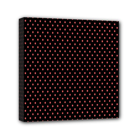 Colored Circle Red Black Mini Canvas 6  X 6  by Alisyart