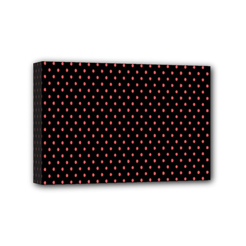 Colored Circle Red Black Mini Canvas 6  X 4  by Alisyart