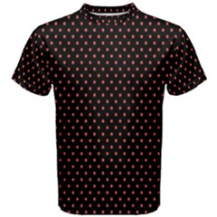 Colored Circle Red Black Men s Cotton Tee