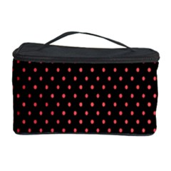 Colored Circle Red Black Cosmetic Storage Case by Alisyart