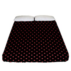 Colored Circle Red Black Fitted Sheet (queen Size) by Alisyart