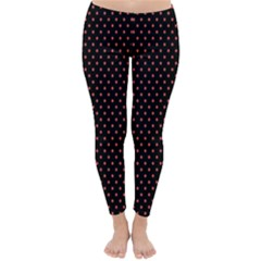 Colored Circle Red Black Classic Winter Leggings