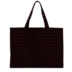 Colored Circle Red Black Zipper Mini Tote Bag by Alisyart