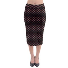 Colored Circle Red Black Midi Pencil Skirt