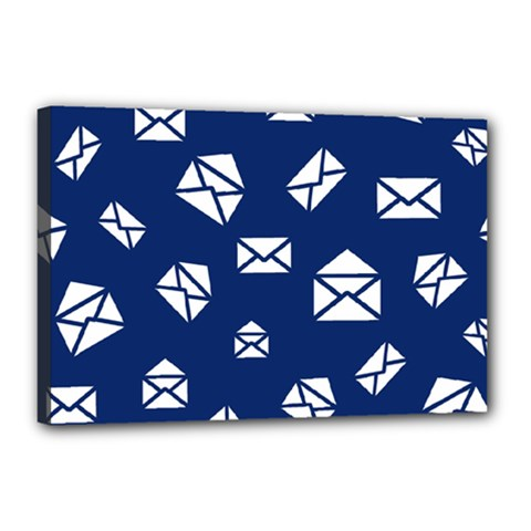 Envelope Letter Sand Blue White Masage Canvas 18  X 12  by Alisyart