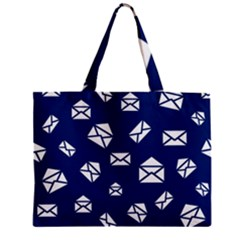 Envelope Letter Sand Blue White Masage Zipper Mini Tote Bag by Alisyart