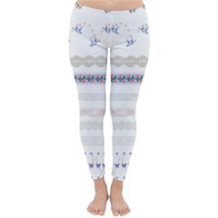 Bird Fly Butterfly Flower Floral Rose Blue Red Pink Classic Winter Leggings