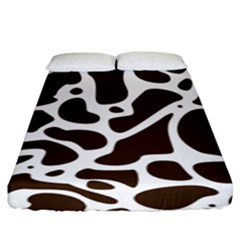 Dalmantion Skin Cow Brown White Fitted Sheet (king Size) by Alisyart