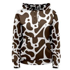 Dalmantion Skin Cow Brown White Women s Pullover Hoodie