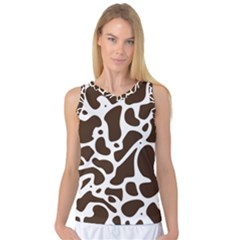 Dalmantion Skin Cow Brown White Women s Basketball Tank Top