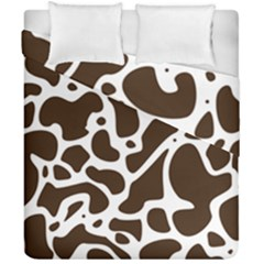 Dalmantion Skin Cow Brown White Duvet Cover Double Side (california King Size) by Alisyart