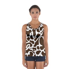 Dalmantion Skin Cow Brown White Women s Sport Tank Top  by Alisyart