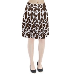 Dalmantion Skin Cow Brown White Pleated Skirt by Alisyart
