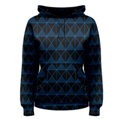 Colored Line Light Triangle Plaid Blue Black Women s Pullover Hoodie
