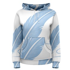 Feather Pen Blue Light Women s Pullover Hoodie