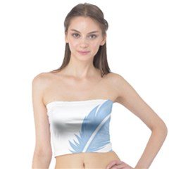 Feather Pen Blue Light Tube Top by Alisyart