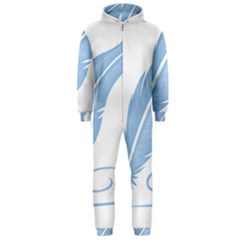 Feather Pen Blue Light Hooded Jumpsuit (men)