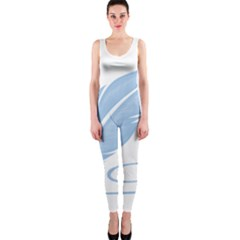 Feather Pen Blue Light Onepiece Catsuit by Alisyart