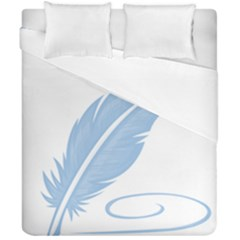 Feather Pen Blue Light Duvet Cover Double Side (california King Size) by Alisyart