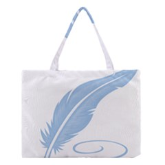 Feather Pen Blue Light Medium Tote Bag by Alisyart