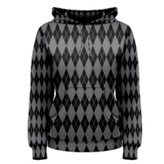 Chevron Wave Line Grey Black Triangle Women s Pullover Hoodie