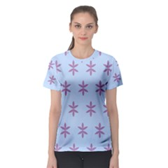 Flower Floral Different Colours Blue Purple Women s Sport Mesh Tee