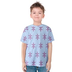 Flower Floral Different Colours Blue Purple Kids  Cotton Tee by Alisyart
