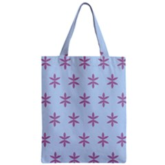 Flower Floral Different Colours Blue Purple Zipper Classic Tote Bag