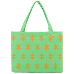 Flower Floral Different Colours Green Orange Mini Tote Bag by Alisyart