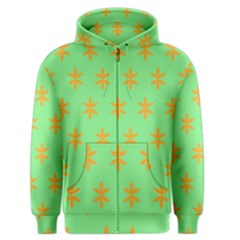 Flower Floral Different Colours Green Orange Men s Zipper Hoodie by Alisyart