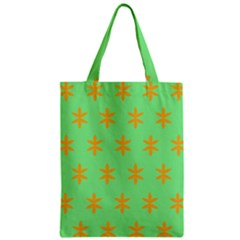 Flower Floral Different Colours Green Orange Zipper Classic Tote Bag by Alisyart