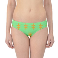 Flower Floral Different Colours Green Orange Hipster Bikini Bottoms