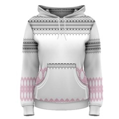 Crown King Quinn Chevron Wave Pink Black Women s Pullover Hoodie