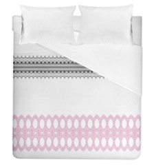 Crown King Quinn Chevron Wave Pink Black Duvet Cover (queen Size) by Alisyart