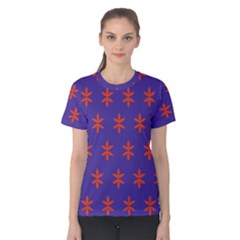 Flower Floral Different Colours Purple Orange Women s Cotton Tee by Alisyart