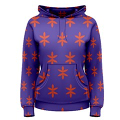 Flower Floral Different Colours Purple Orange Women s Pullover Hoodie