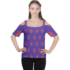 Flower Floral Different Colours Purple Orange Women s Cutout Shoulder Tee by Alisyart