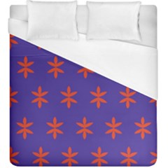 Flower Floral Different Colours Purple Orange Duvet Cover (king Size) by Alisyart