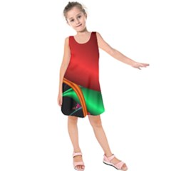 Fractal Construction Kids  Sleeveless Dress by Simbadda