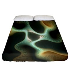 Colorful Fractal Background Fitted Sheet (king Size) by Simbadda