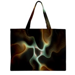 Colorful Fractal Background Zipper Mini Tote Bag by Simbadda