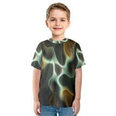 Colorful Fractal Background Kids  Sport Mesh Tee