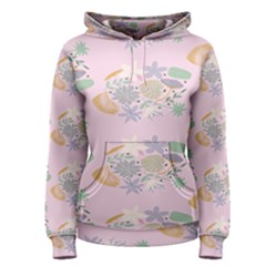 Floral Flower Rose Sunflower Star Leaf Pink Green Blue Women s Pullover Hoodie