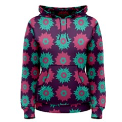 Flower Floral Rose Sunflower Purple Blue Women s Pullover Hoodie