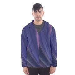 Purple Fractal Hooded Wind Breaker (men)