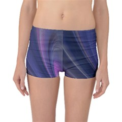 Purple Fractal Boyleg Bikini Bottoms by Simbadda