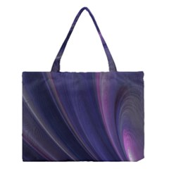 Purple Fractal Medium Tote Bag by Simbadda