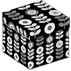 Floral Pattern Seamless Background Storage Stool 12   by Simbadda